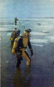 По следам во льдах, подводные поиски затонувшего корабля экспедиции Русанова