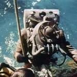 На Волжском стрежне: Последовала неудача, но…, водолазные работы по спасению людей
