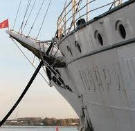 Голубые дороги СССР. Флаги на мачтах