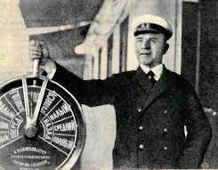 """Капитан танкера """"Советская нефть"""" В. Алексеев, 1932 г."""