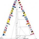 Флаги на мачтах. Международный свод сигналов.